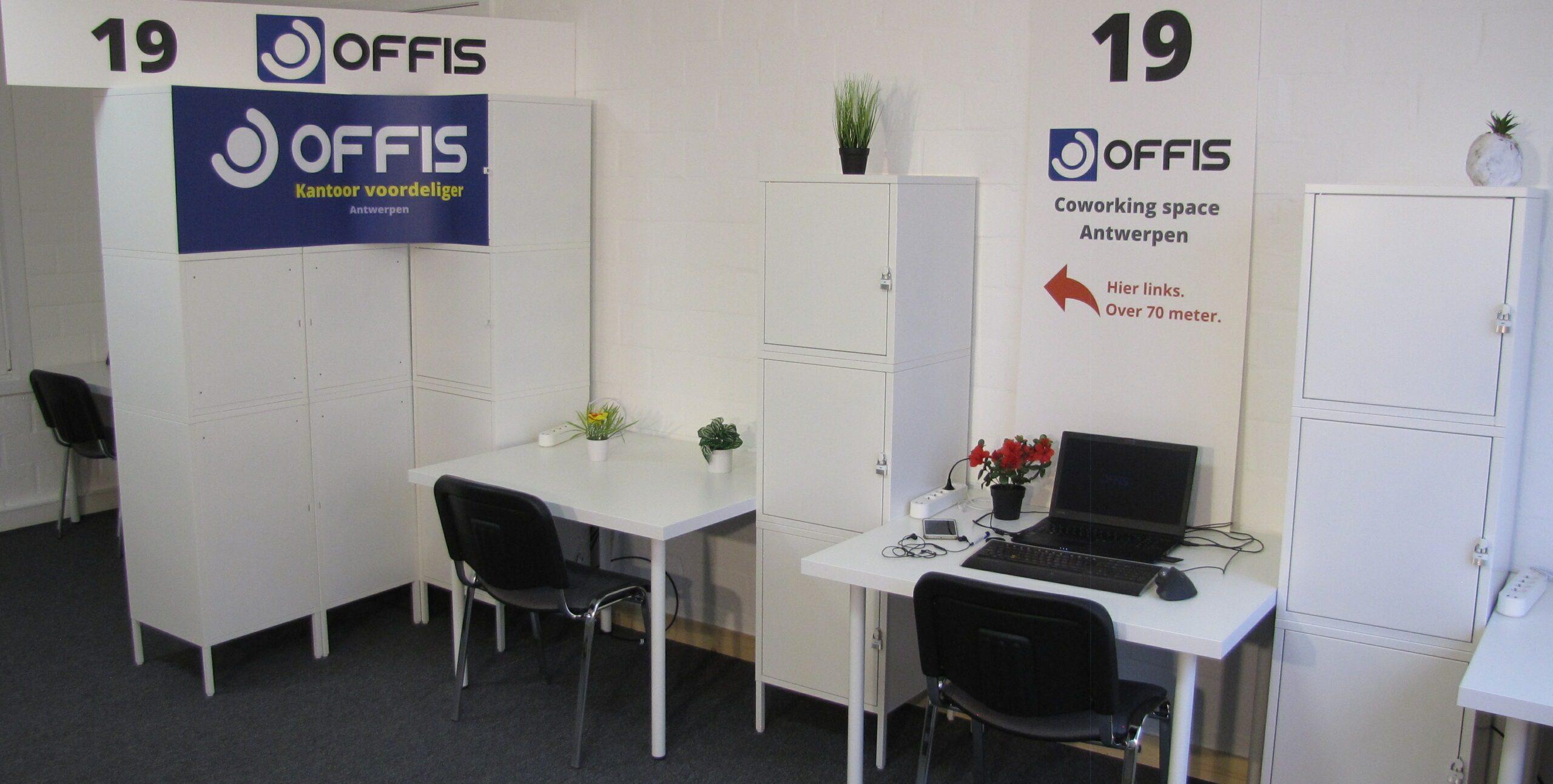 Werkplek bij business center offis in Antwerpen